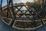 View from one of the oldest metal bridges in Timisoara, Romania - 177099621
