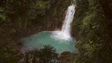 Celeste river waterfall, Tenorio Volcano, Costa Rica