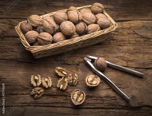 still life with walnut and nutcracker