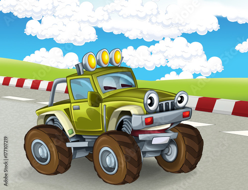 bajkowy-monster-truck,-rajdy,-tapeta,-plakat
