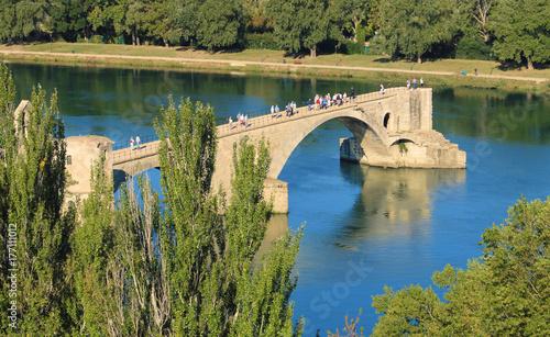 Plakat Le pont Saint-Bénézet sur le Rhône