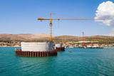 Bridge construction in Trogir, Croatia - 177114855
