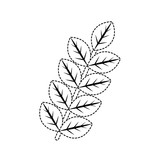 stem with leaves icon over white background vector illustration - 177115275