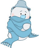Illustration of Cute Snowman. Cartoon Character - 177119072