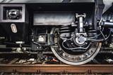 A train wheel close-up. Railway industry - 177123008