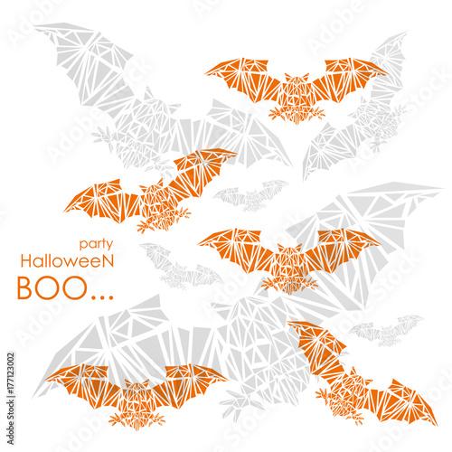 Keuken foto achterwand Vlinders in Grunge Halloween party. Vector illustration