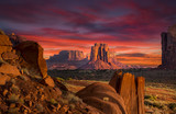 Spectacular Sunrise in Monument Valley - 177127841