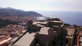 Drone video - flying over Castelsardo city - Sardinia - 177129678