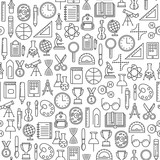 seamless pattern with education design elements - 177130678