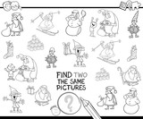 find two the same Xmas characters color book - 177134202