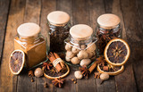 Aromatic spices in the jar - 177138687