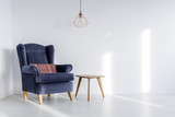 Lampshade above armchair - 177142805