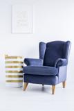 Basket next to armchair - 177142807
