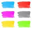 6 gemalte Hintergründe mit Wasserfarbe
