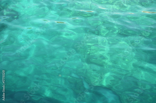 Turquoise sea water color background