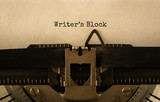 Text Writer s Block typed on retro typewriter - 177152217