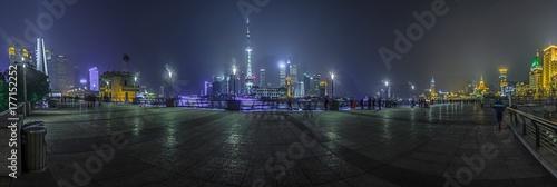 Foto op Plexiglas Shanghai Nächtliches Panorma von the Bund