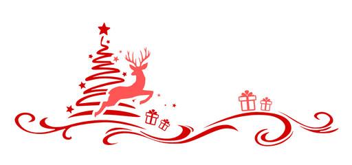 Weihnachtsbaum und Elch