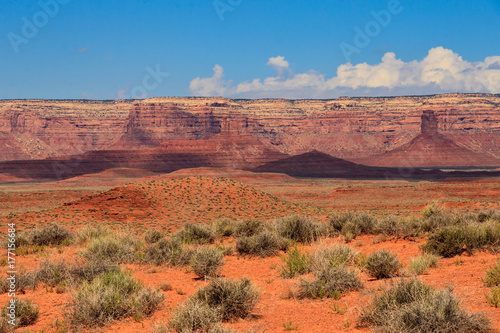 In de dag Oranje eclat Red Rocks in Utah