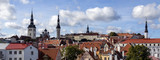 Panoramic view of the city of Tallinn in Estonia poster