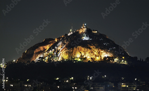 Foto op Canvas Athene Mount Lycabettus in Athens. Greece