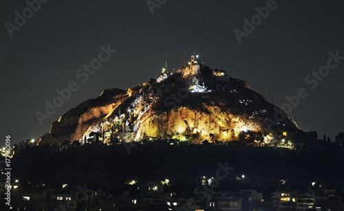 Fotobehang Athene Mount Lycabettus in Athens. Greece