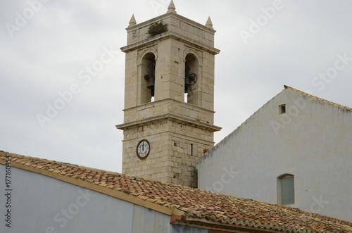 Bell tower in Peniscola, Spain