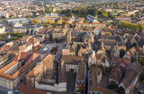 An aerial view of Belfort with the cathedral of Saint-Christophe - 177161085