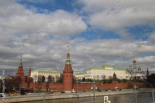 The Moscow Kremlin in the background of the obedient sky Poster