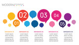 abstract infographics number options template with speech bubble balloons - 177172806
