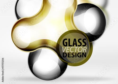 Digital techno bubble background template