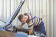 Reparatur eines Marderschadens in einer freien Werkstatt