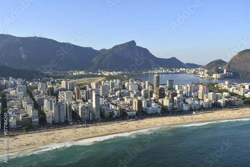 Leblon and Ipanema Beach. Rio de Janeiro, Brazil Poster