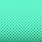 Simple abstract halftone rounded square pattern background - vector design with diagonal squares