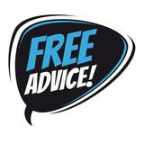 free advice retro speech bubble - 177192860