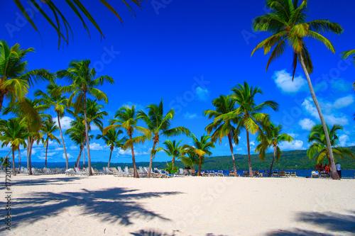 Leinwanddruck Bild Dominican beach