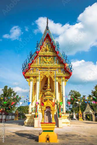 Beautiful church in Thailand temple Poster