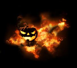 Halloween flames background 3d rendering