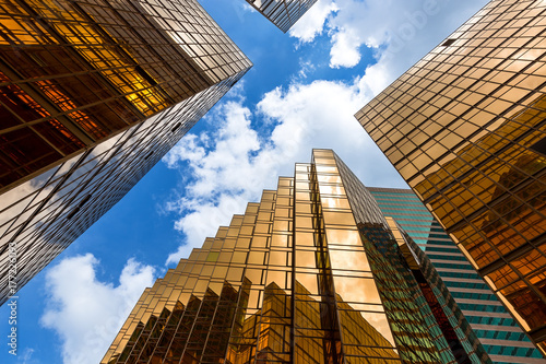 Hong Kong modern Corporate Buildings Poster
