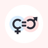 gender equity symbol, icon - 177242453