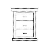 furniture bathroom drawers cabinet wooden vector illustration - 177243263