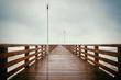 Quadro Long wooden pier