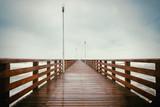 Long wooden pier - 177244407