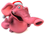 Pink elephant - 3D Illustration - 177249410