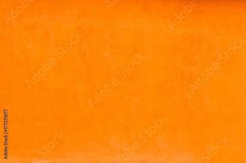 Bright Orange Color Facade Wall As An Empty Rustic Background Texture E