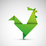 kogut origami wektor - 177261443