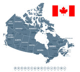 Canada - map and flag illustration - 177262215