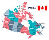 Canada - map and flag illustration - 177262216