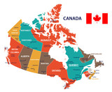 Canada - map and flag illustration - 177262239