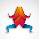 żaba origami wektor - 177266050